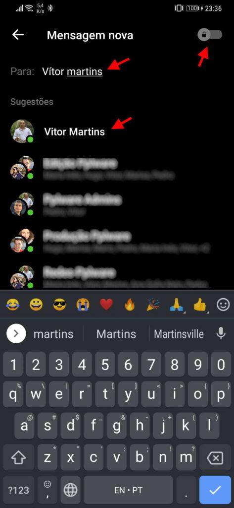 Messenger conversa secreta Facebook mensagens