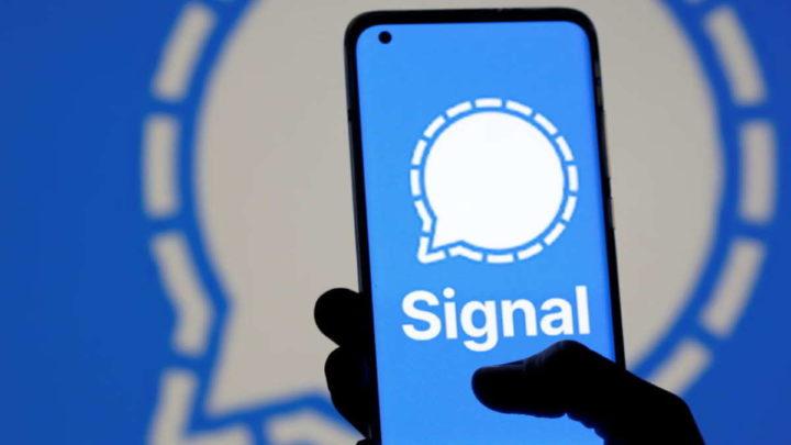 Signal SMS mensagens app funcionalidade