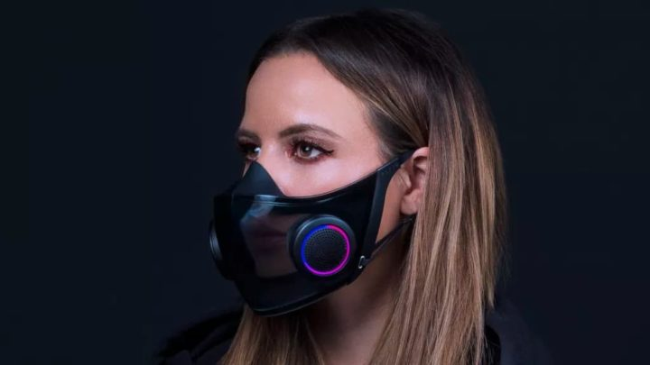 Imagem máscara Razer contra a COVID-19