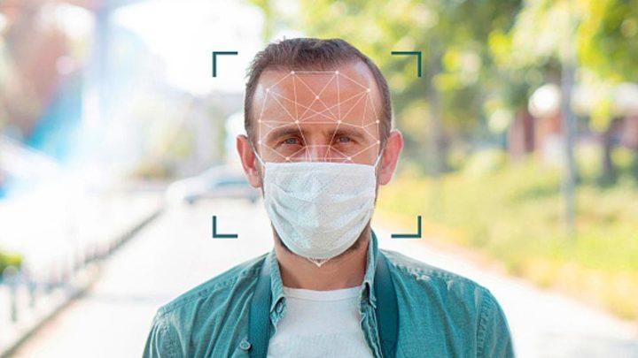 Imagem reconhecimento facial da NEC para pessoas com máscaras
