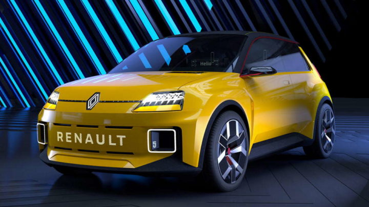 Renault 5 carro elétrico clássico