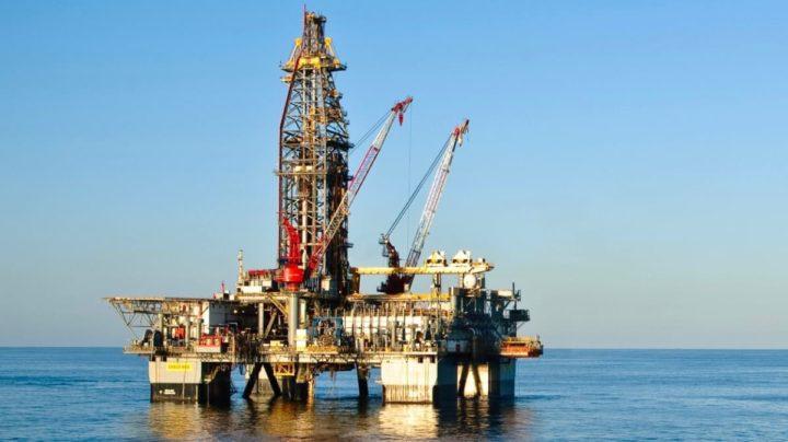 Ilustração de plataforma petrolífera que a SpaceX irá comprar