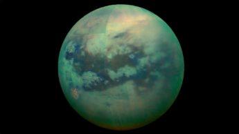 Imagem da lua Titã de Saturno
