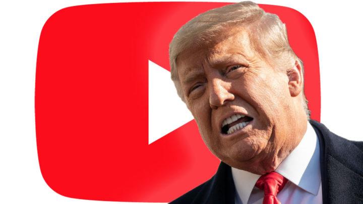 YouTube bane canal de Donald Trump durante sete dias