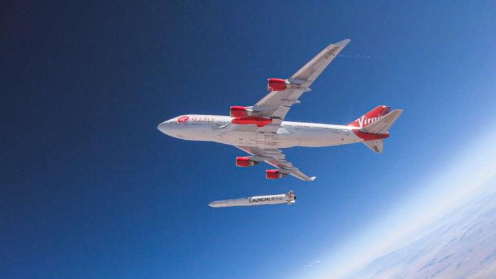 Virgin Orbit satélites LauncherOne avião espaço