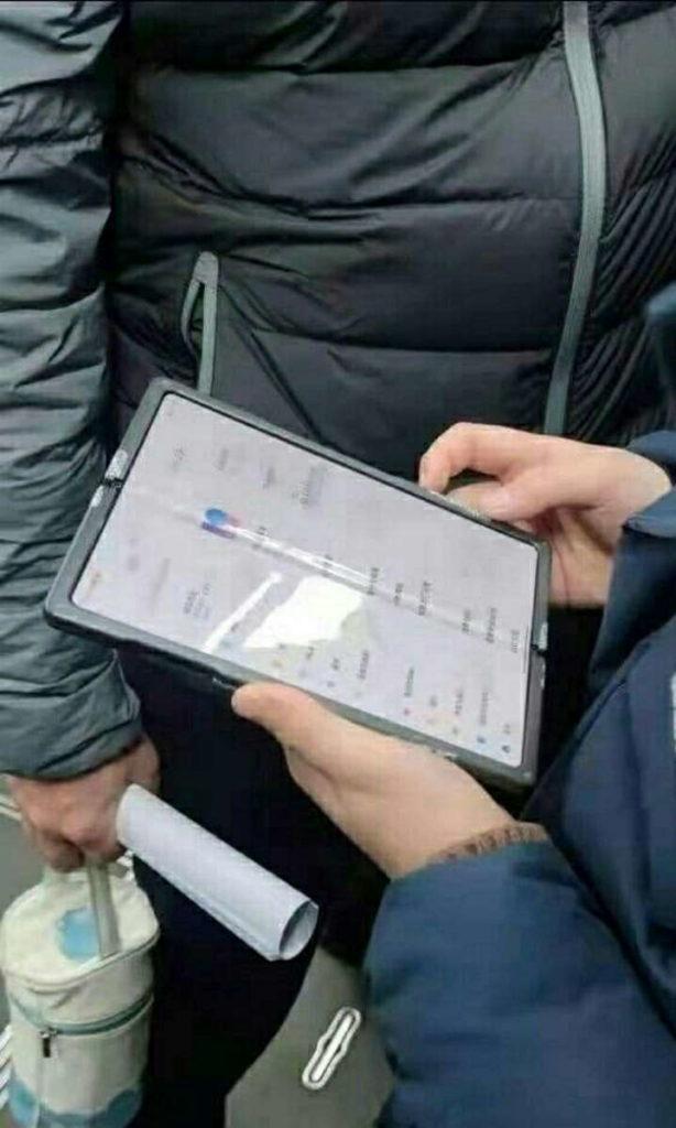 xiaomi smartphone dobrável imagens ecrã