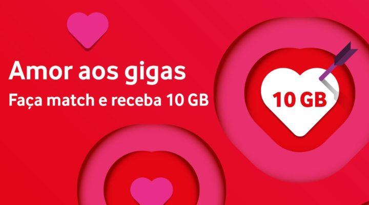 """Vodafone: 10GB grátis a quem fizer """"Match"""" no Dia dos Namorados"""