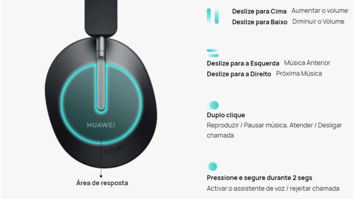 FreeBuds Studio Huawei auscultadores áudio ANC