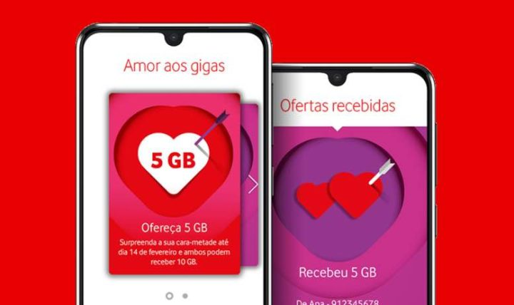 Vodafone: 10GB free for those who match on Valentine's Day