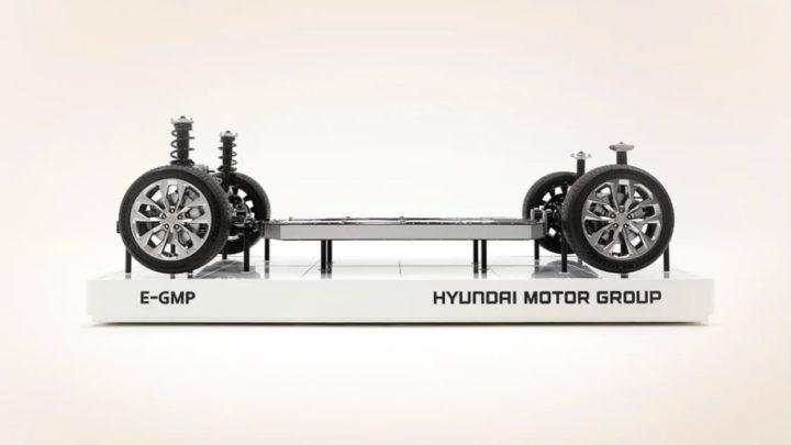 Imagem do chassi Hyundai, o E-GMP, para Apple Car