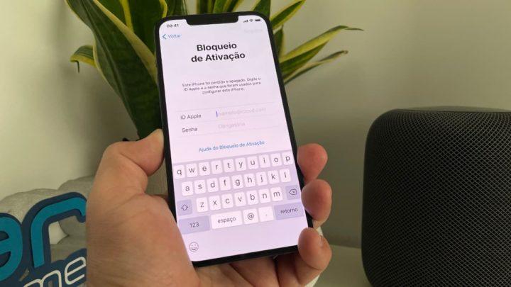 Imagem iPhone com bloqueio de ativação