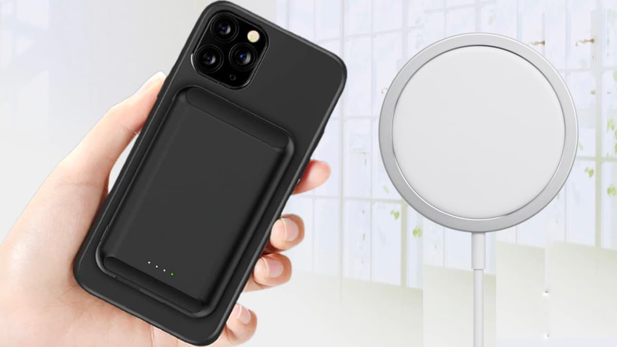 Ilustração bateria Apple para MagSafe no iPhone