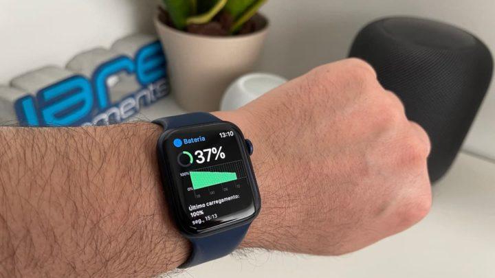 Imagem Apple Wtach no modo de poupança de energia