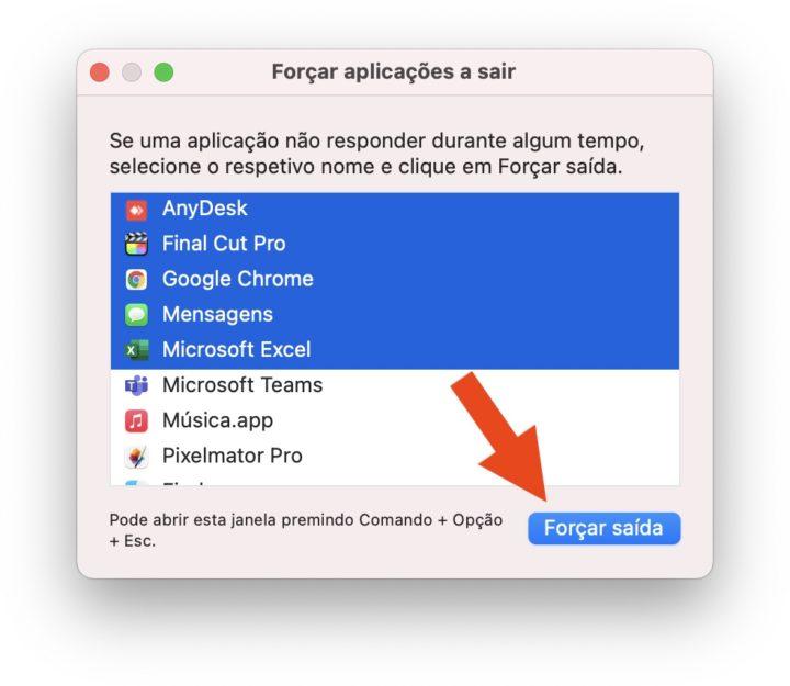 Imagem Forças aplicações do macOS