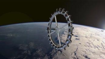 Ilustração da Estação Espacial Voyager