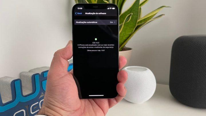 iphone 12 Pro com iOS 14.5 beta 1 com novidades no processo Google Safe Browsing