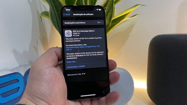 Imagem iOS 14.5 beta 2