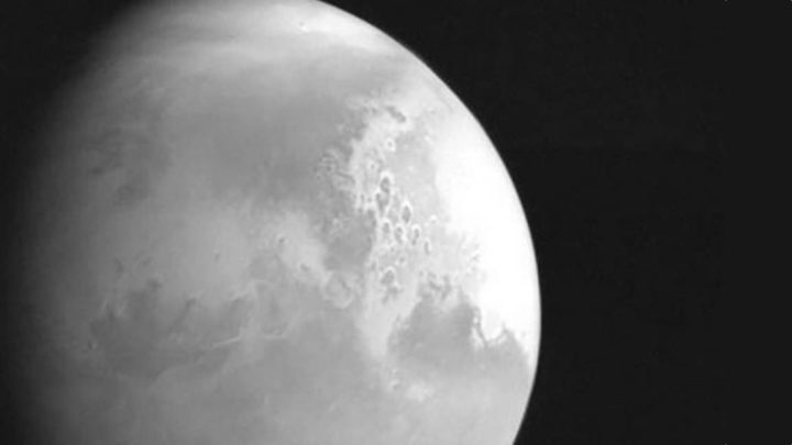 Imagem planeta mArte tirada pela nave espacial chinesa Tianwen-1