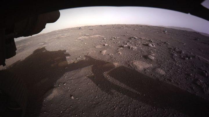 Imagem captada pelo rover Perseverance de Marte