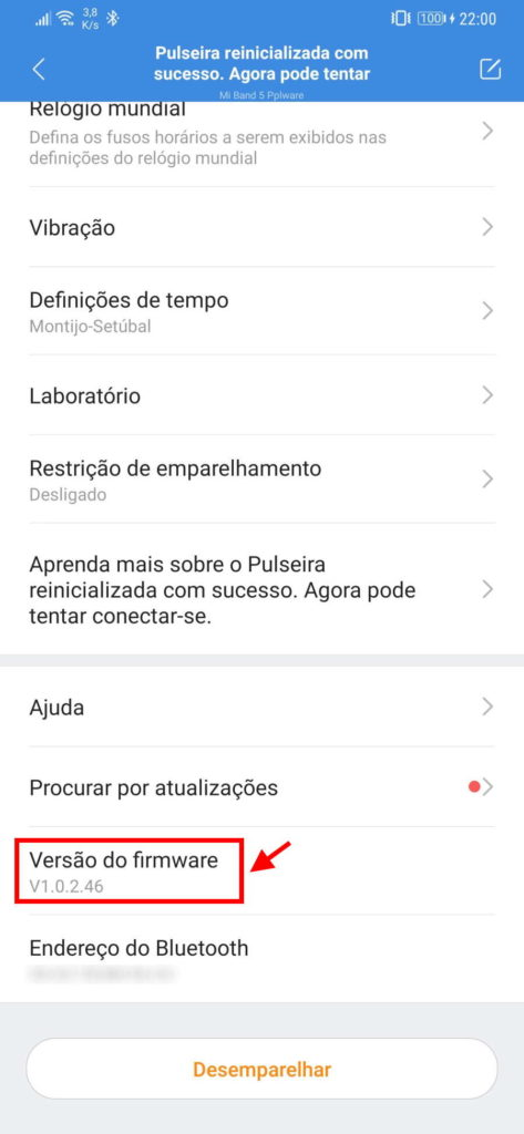 Mi Band Xiaomi smartband update atualizar