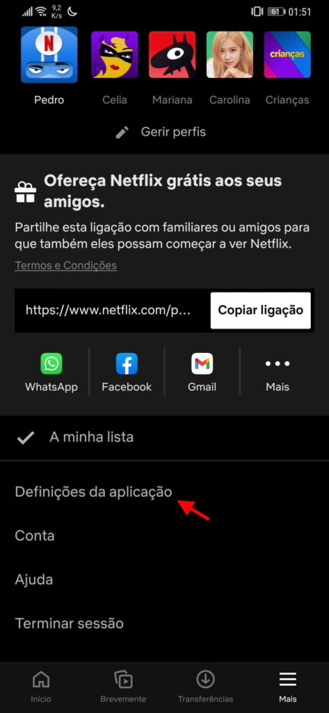 Netflix problemas Android app testes