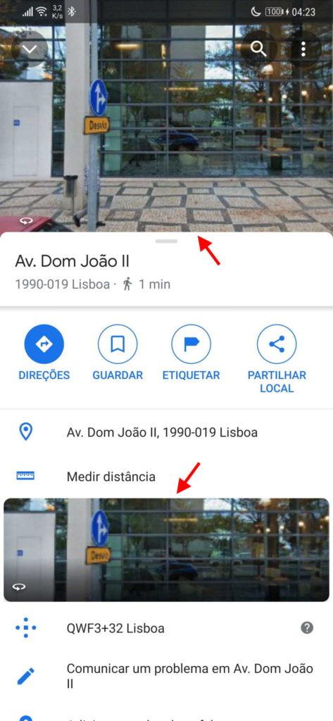 Google Maps Street View vista dupla