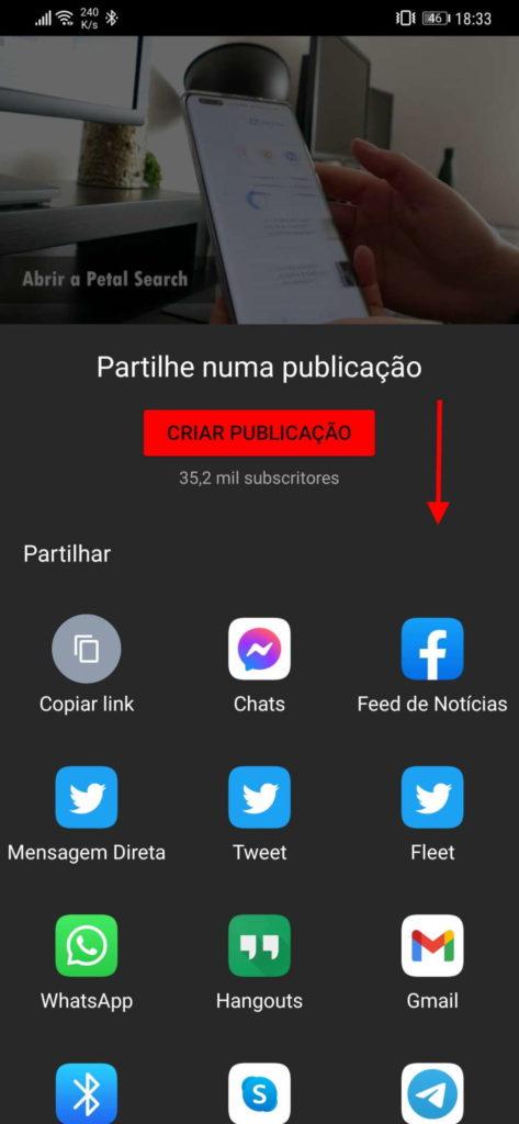 YouTube VLC música Android ecrã