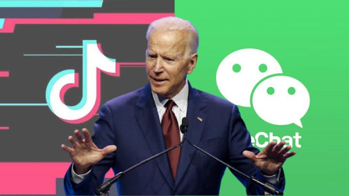 Joe Biden suspende proibição do WeChat e TikTok nos EUA.