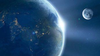 Imagem Terra fornece água à Lua