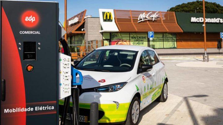 EDP: 150 pontos de carregamento rápido nos restaurantes McDonald's