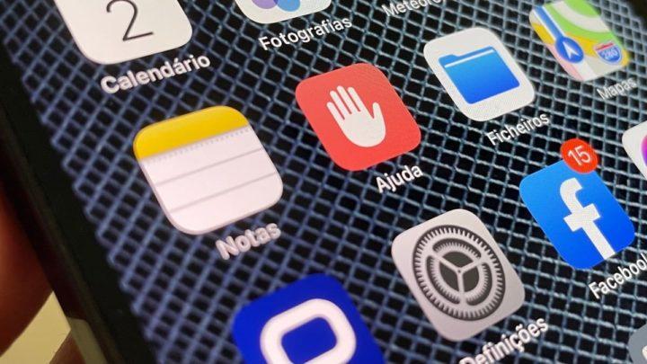 Imagem botão Mensagem de Ajuda no iphone