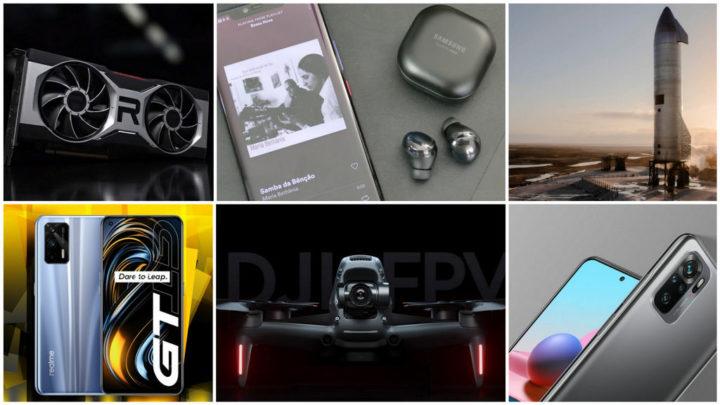 E os destaques tecnológicos da semana que passou foram... - DJI, Huawei, Redmi, Samsung