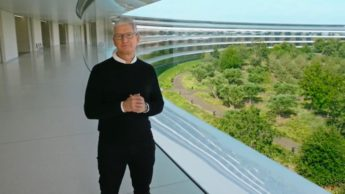 Imagem Evento Apple com Tim Cook
