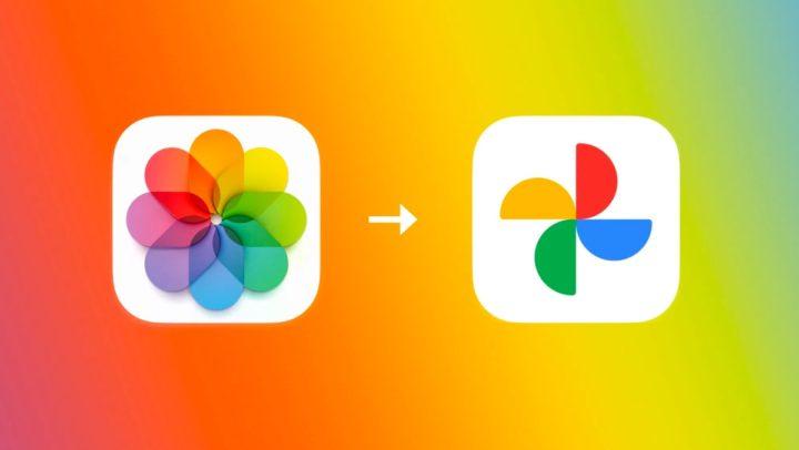Ilustração da dica da Apple para transferir fotografia e vídeos para o Google Fotos