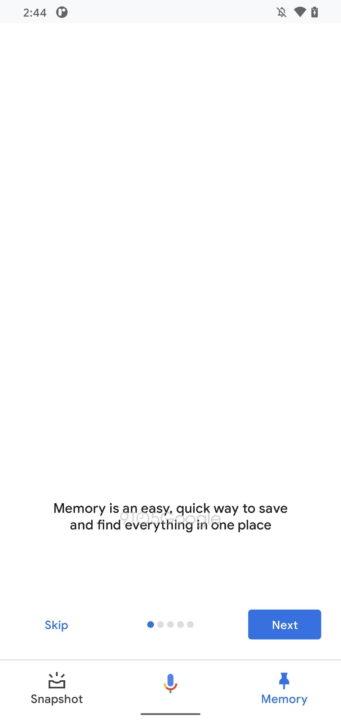 Google Assistant Memória