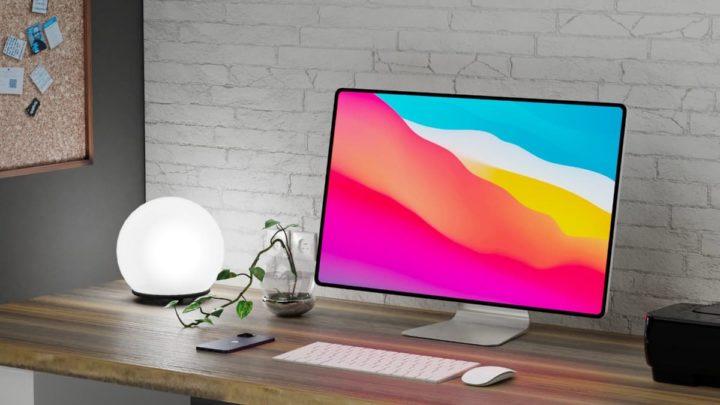 Imagem iMac concept 2021 com Apple Silicon com macOS Big Sur