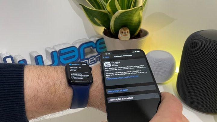 Imagem do iPhone 12 Pro Max com iOS 14.4.2 da Apple para correção de bug no WebKit