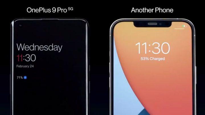 OnePlus 9 Pro vs. outro telefone da Apple: Qual carrega mais rápido?