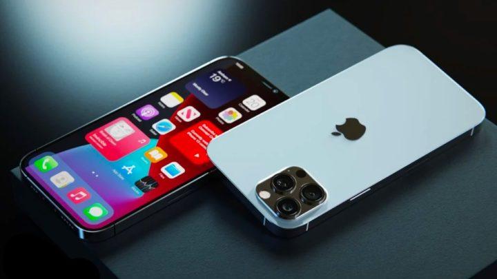 Ilustração do iPhone 13 sobre informações de Ming-Chi Kuo
