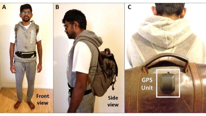 Imagem de mochila com tecnologia Intel para IA ajudar os cegos