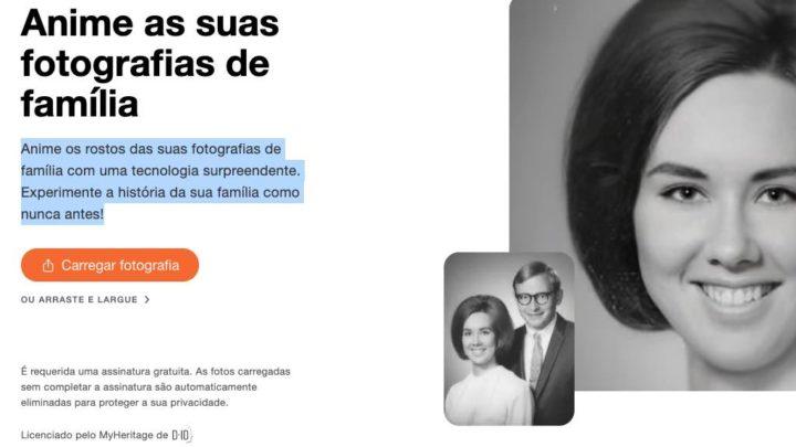 MyHeritage: Anime os rostos das suas fotografias de família
