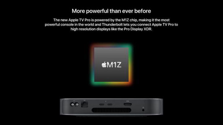 Imagem de conceito Apple Tv com SoC M1