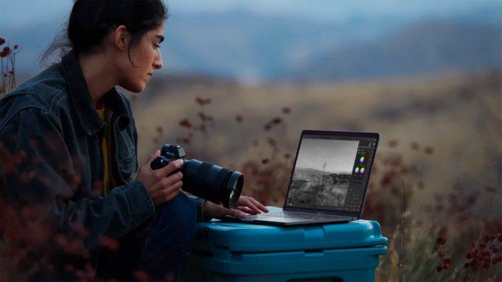 Ilustração de edição de imagem no Apple M1 com Photoshop da Adobe