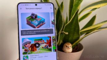 Imagem Samsung S21 com Play Store da Google