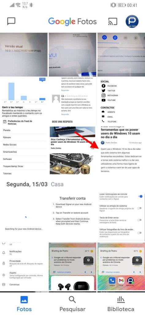 Google Lens Photos imagem texto