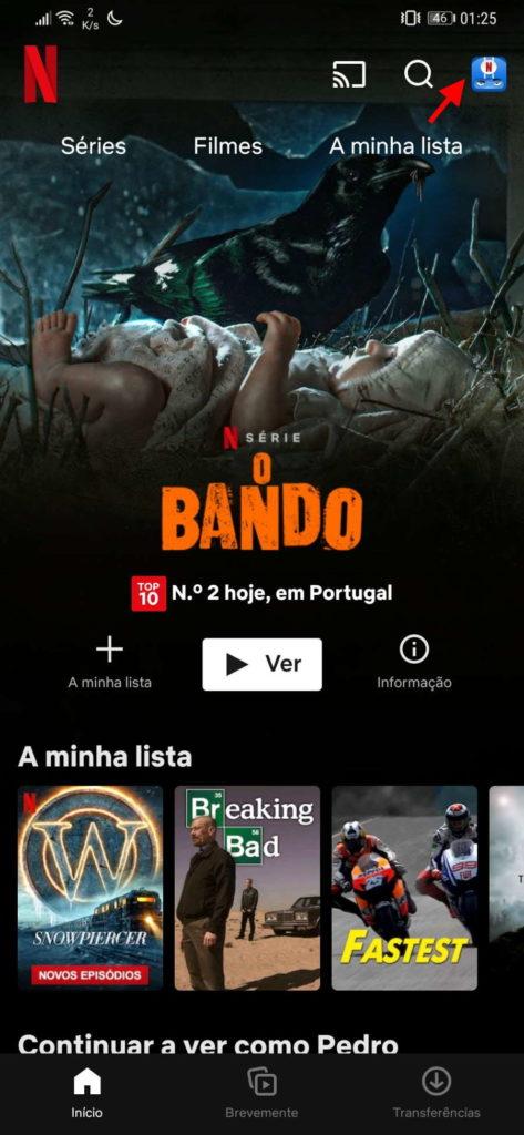 Espacio de almacenamiento Android Netflix SD