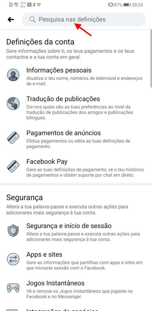Facebook Google perfil informação pesquisas