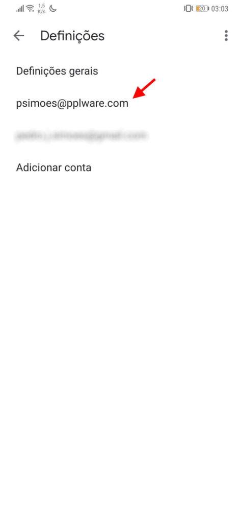 Gmail anexos Android opções imagens