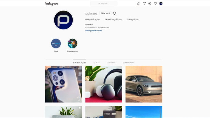 Instagram Dark Mode browser modo interface