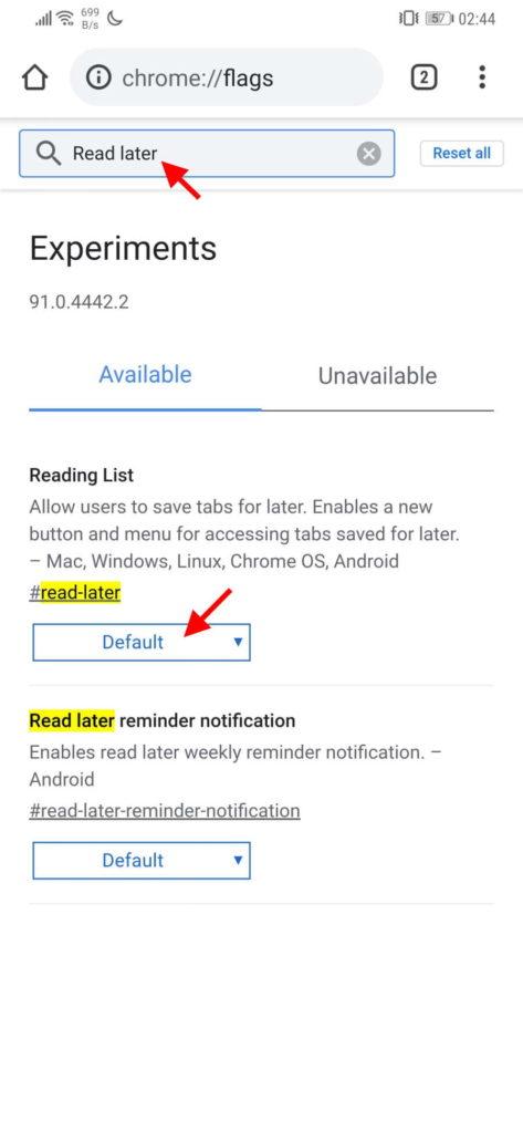 Chrome páginas ler tarde Google browser